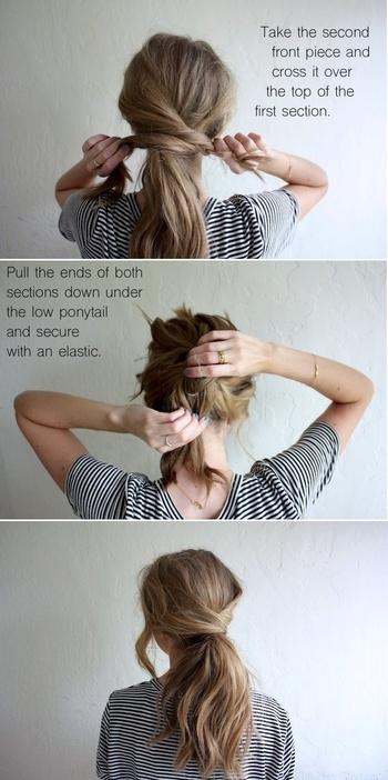 easy #hair #style #university #school #girls #women  #haircare